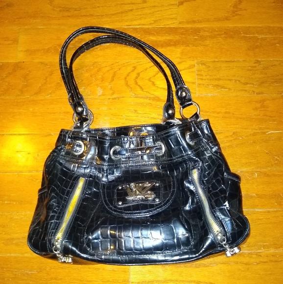Handbags - Black Van Kathy Leeland vinyl Purse